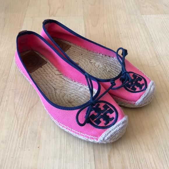 53a869f7616c Tory Burch espadrille cap toe ballet flats pink 7.  M 5b6f882e9fe486b904d4fb50
